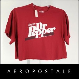 Aeropostale Woman Crop Spell Out Graphic T Shirt